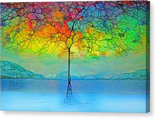 The Glow Tree Canvas Print