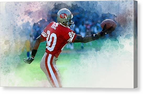 Jerry Rice Canvas Print - The Goat by Karl Knox Images