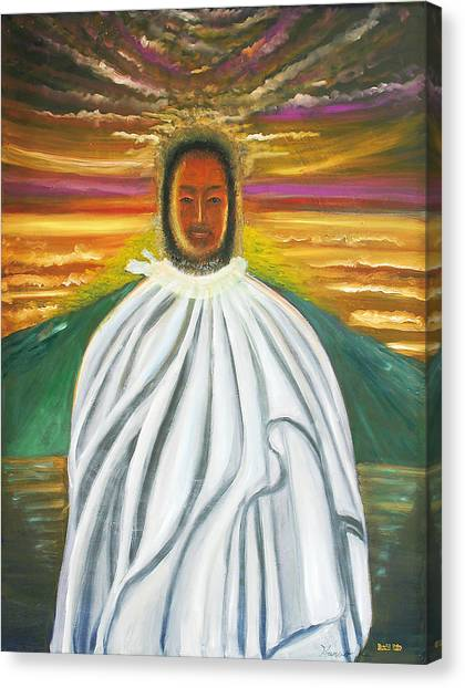 The God Kunitokotachi Canvas Print by Haruki Kubo