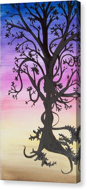 The Goddess Tree Canvas Print by Amy Lauren Gettys