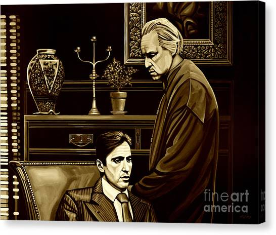 Scarface Canvas Print - The Godfather by Meijering Manupix