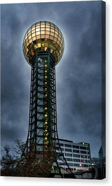 The Gold Ball At The Top Canvas Print