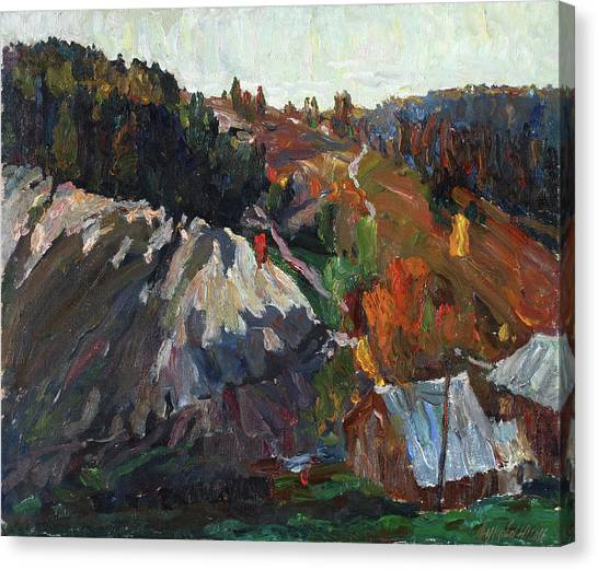 Ural Mountains Canvas Print - The Gold Evening by Juliya Zhukova