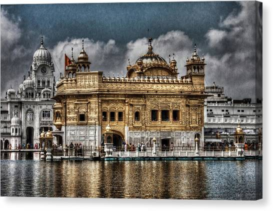 Contemporary Art Canvas Print - The Gold Temple by Contemporary Art
