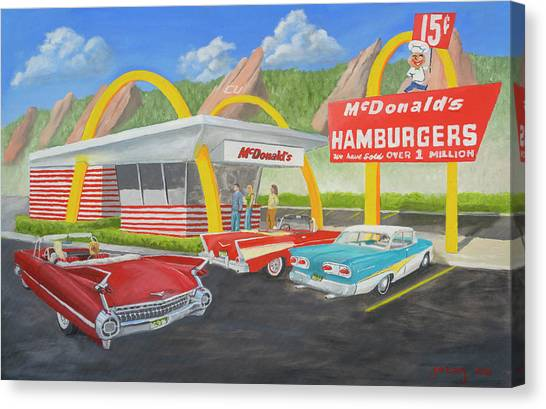 Hamburger Canvas Print - The Golden Age Of The Golden Arches by Jerry McElroy