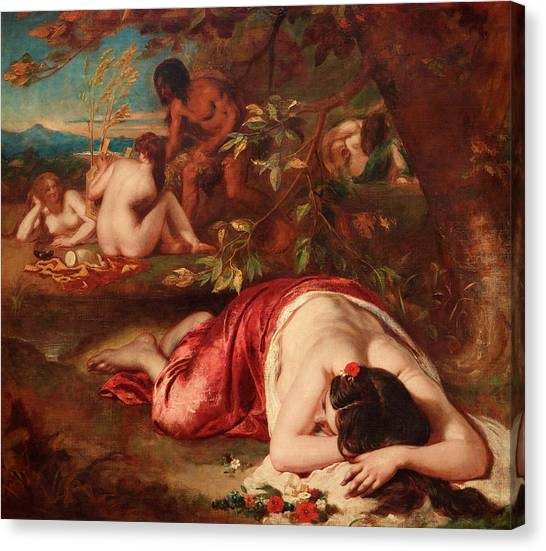 Artemis Canvas Print - The Golden Age by William Etty