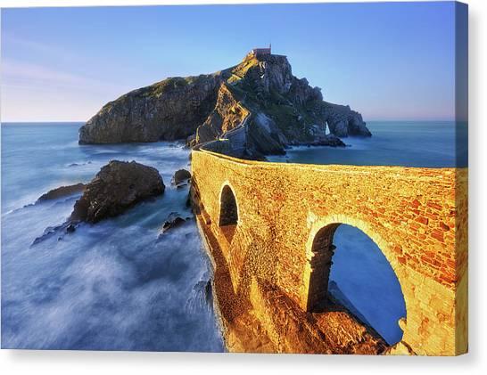 The Golden Bridge Canvas Print