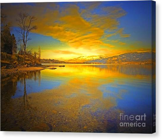 The Golden Clouds Of Winter Canvas Print