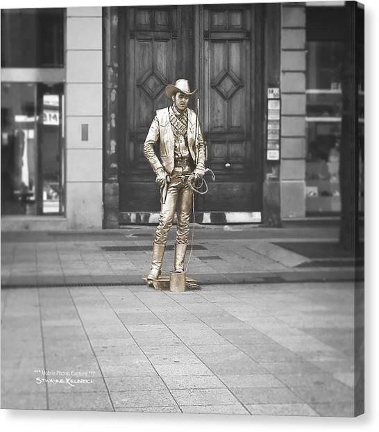 Canvas Print featuring the photograph The Golden Cowboy by Stwayne Keubrick