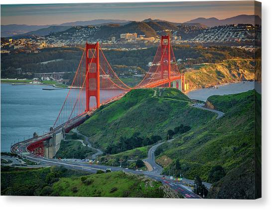 The Golden Gate At Sunset Canvas Print