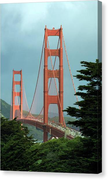 Canvas Print - The Golden Gate Bridge In A Sunbeam by Daniel Furon