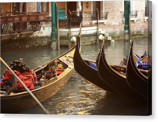 The Golden Gondola Canvas Print by Michael Henderson