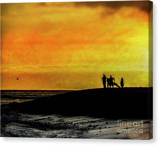 Canvas Print featuring the digital art The Golden Hour II by Rhonda Strickland