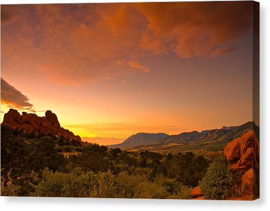The Golden Hour Canvas Print by Tim Reaves
