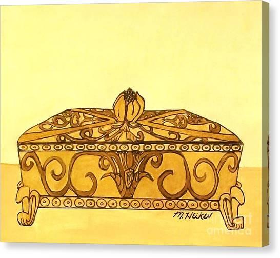 The Golden Jewelry Box Canvas Print by Marsha Heiken