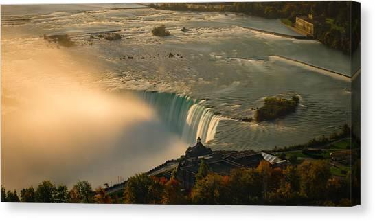 The Golden Mist Of Niagara Canvas Print