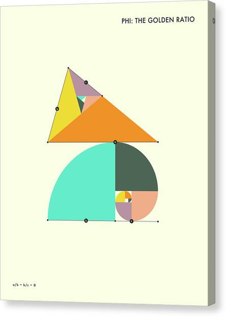 Minimalism Canvas Print - Phi - The Golden Ratio by Jazzberry Blue