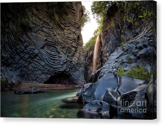 The Golden Waterfall Canvas Print