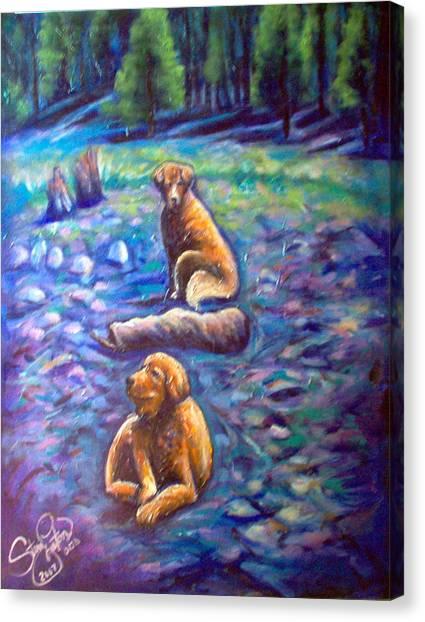 The Golden's Canvas Print by Steve Lawton