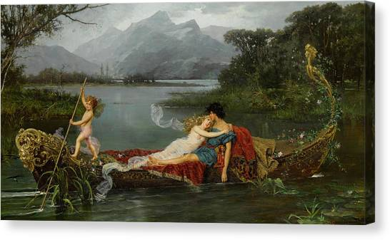 Faun Canvas Print - The Gondola by Ignace Spiridon