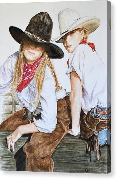 Ranch Dressing Canvas Print - The Good And The Bad # 2 by Traci Goebel