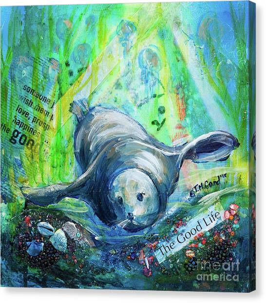 Canvas Print featuring the painting The Good Life by TM Gand