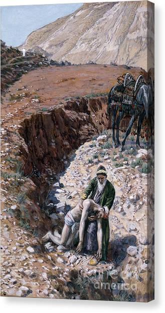 Charities Canvas Print - The Good Samaritan by Tissot
