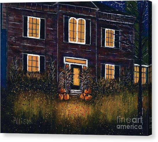 The Good Witch Grey House Canvas Print