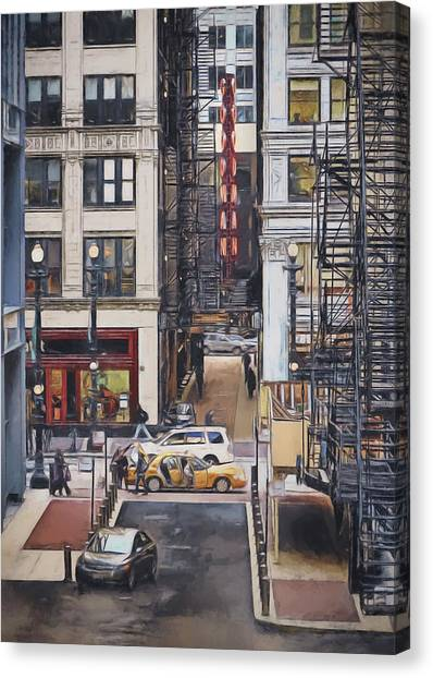 Chicago Fire Canvas Print - The Goodman From The Platform by Scott Norris