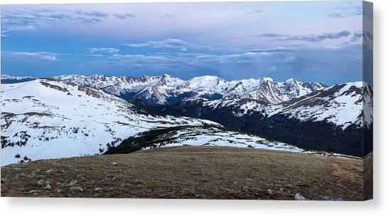 The Gore Range At Sunrise - Rocky Mountain National Park Canvas Print