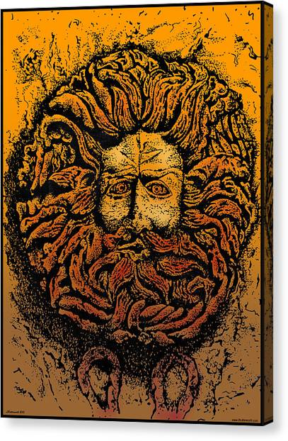Gorgons Canvas Print - The Gorgon Man Celtic Snake Head by Larry Butterworth