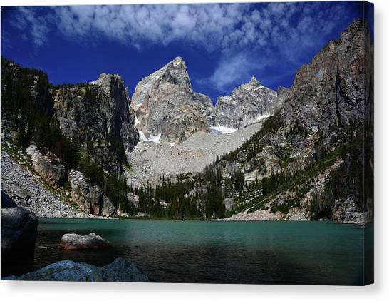 The Grand And Mount Owen From Delta Lake Canvas Print