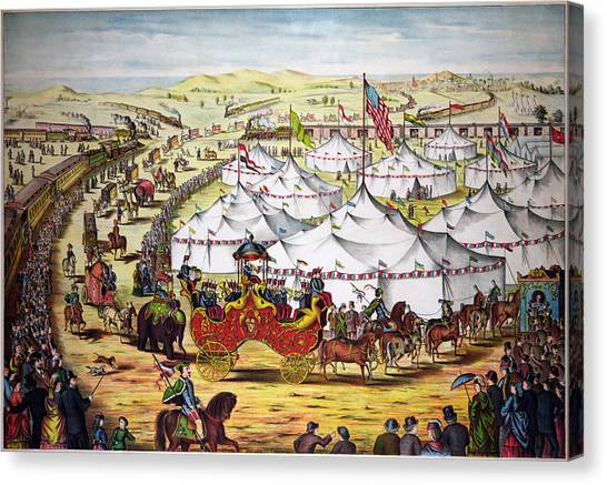 The Grand Layout, Chromolithograph 1874 Canvas Print