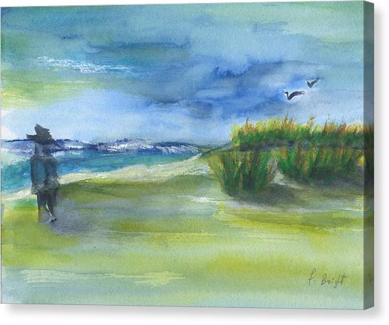 The Gray Man Visits Pawleys Island Sc Canvas Print