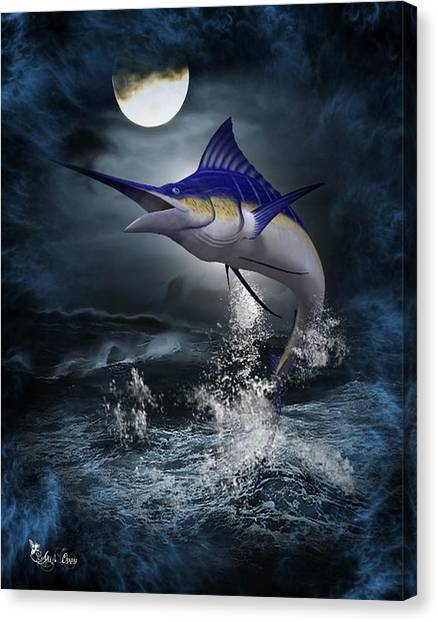 The Great Blue Marlin Canvas Print
