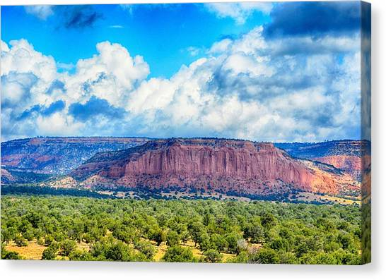 Canvas Print featuring the photograph The Great Divide by AJ Schibig