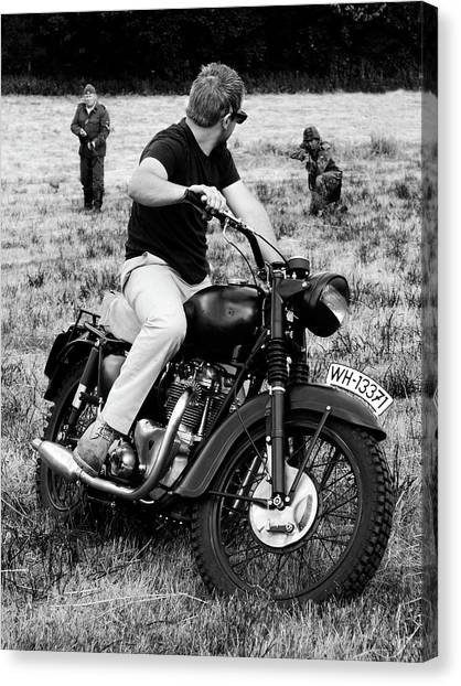 Harley Davidson Canvas Print - The Great Escape by Mark Rogan