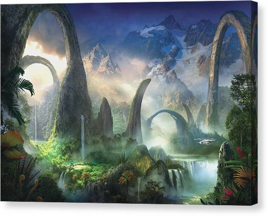 Jungles Canvas Print - The Great North Road by Philip Straub
