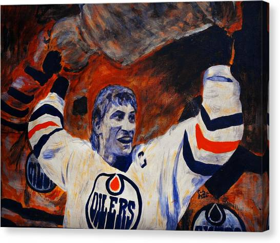 Edmonton Oilers Canvas Print - The Great One by Carly Jaye Smith
