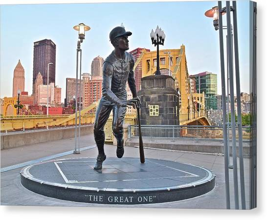 Pittsburgh Pirates Canvas Print - The Great One by Frozen in Time Fine Art Photography