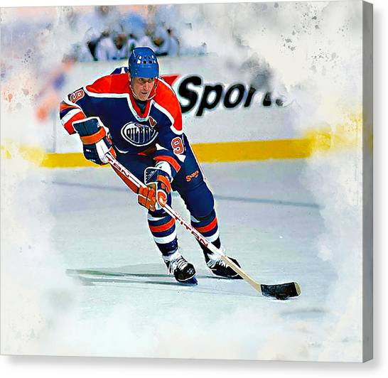 Wayne Gretzky Canvas Print - The Great One by Karl Knox Images
