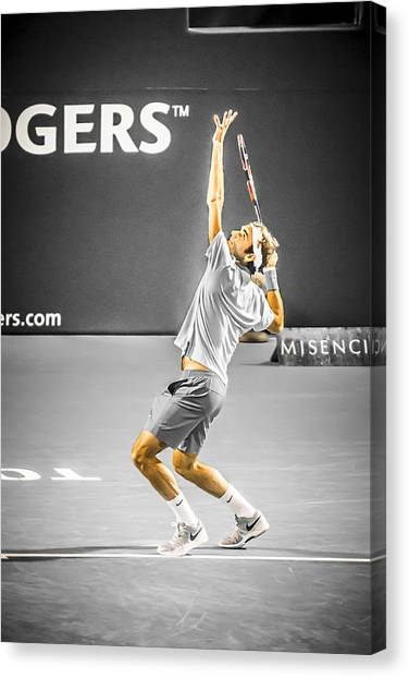 Roger Federer Canvas Print - The Great Roger Federer by Bill Cubitt