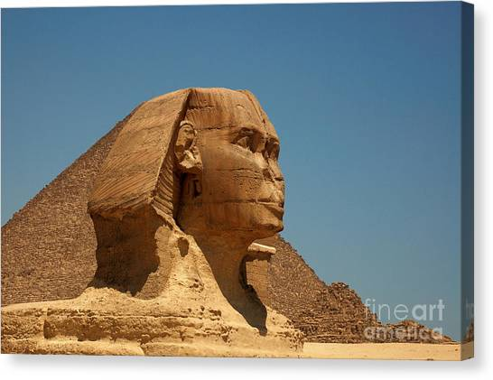 The Great Sphinx Of Giza Canvas Print