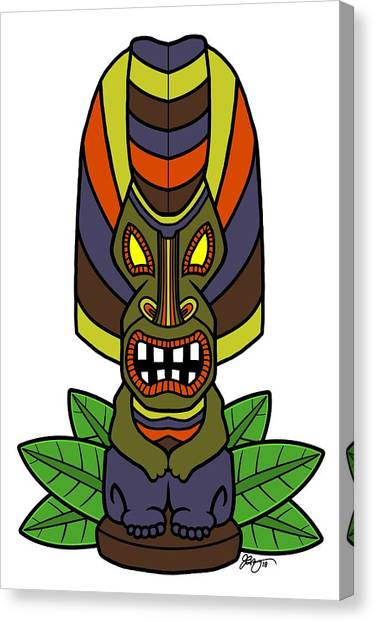 Cookout Canvas Print - The Great Tiki by James Bogner