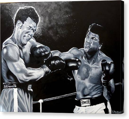 George Foreman Canvas Print - The Greatest - Muhammad Ali by Kay Ashton