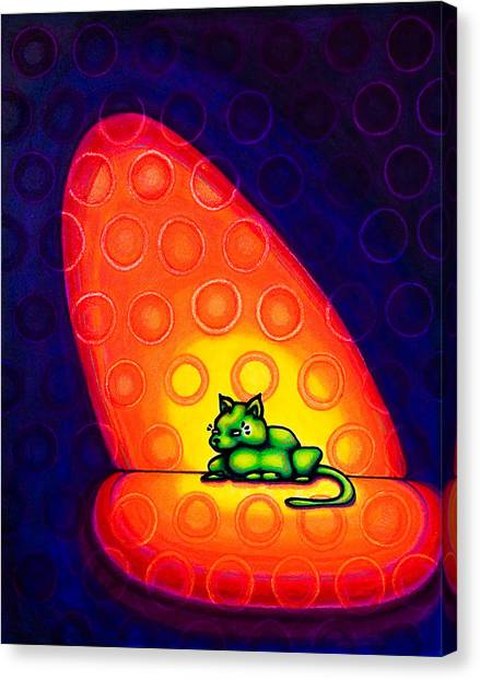 The Green Cat Canvas Print