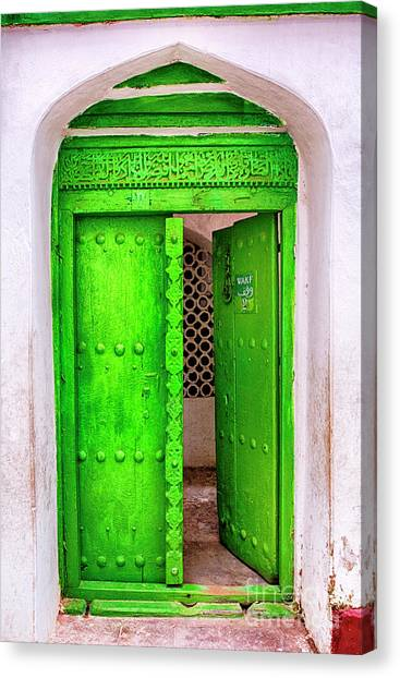 The Green Door Canvas Print