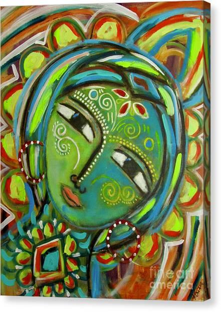 The Green Goddess  Canvas Print