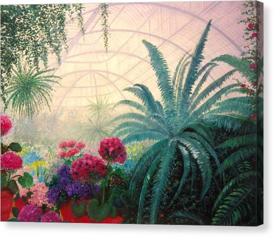 The Green House Canvas Print by Jeanene Stein