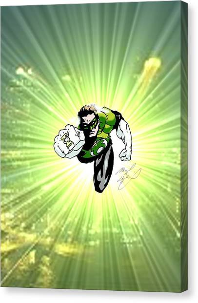The Green Lantern Canvas Print